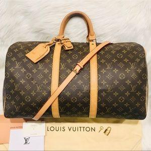 Authentic Louis Vuitton Keepall 50 Travel Bag#3.3Q